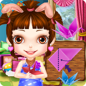 Princess Fold Paper Crane-Girl