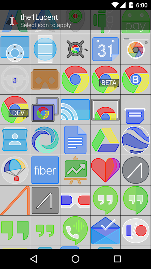 the1Lucent Icon Theme Screenshot 2