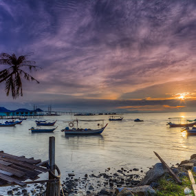 teluk tempoyak by P Hin Cheah - Landscapes Sunsets & Sunrises ( teluk, teluk tempoyak, penang, sunrise, tempoyak )