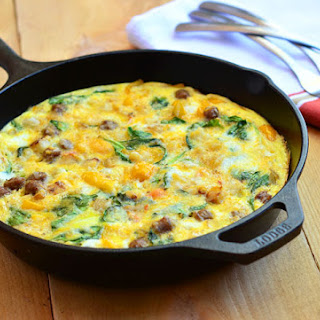 Sausage, Spinach, Peppers and Potato Fritatta