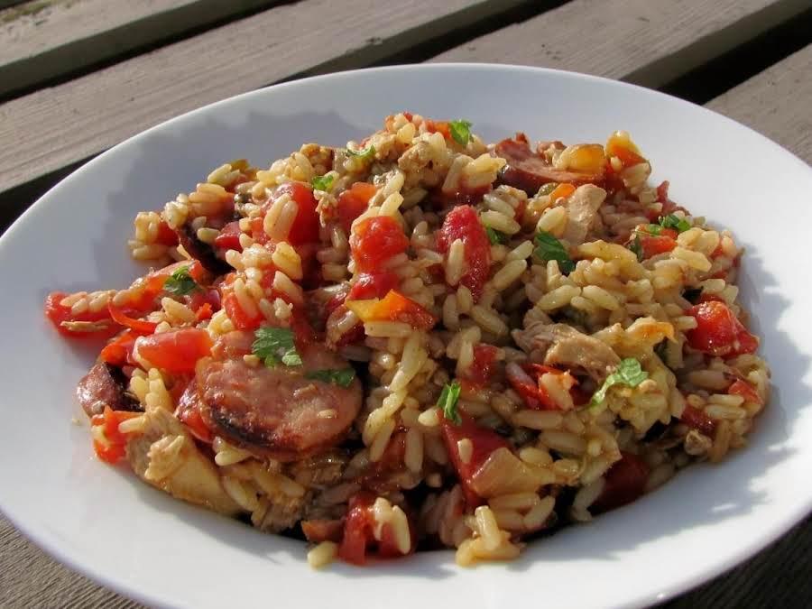 Chicken Sausage Skillet Supper