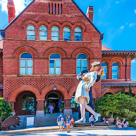 Key West Museum by Sandy Friedkin - Buildings & Architecture Public & Historical ( museum key west, the kiss, red brick )