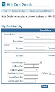 IrishHighCourtSearch - screenshot