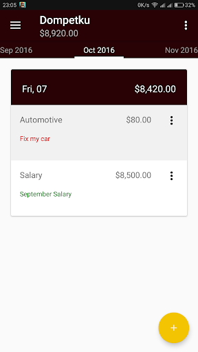 Quickfin Simple Money Manager screenshot 1