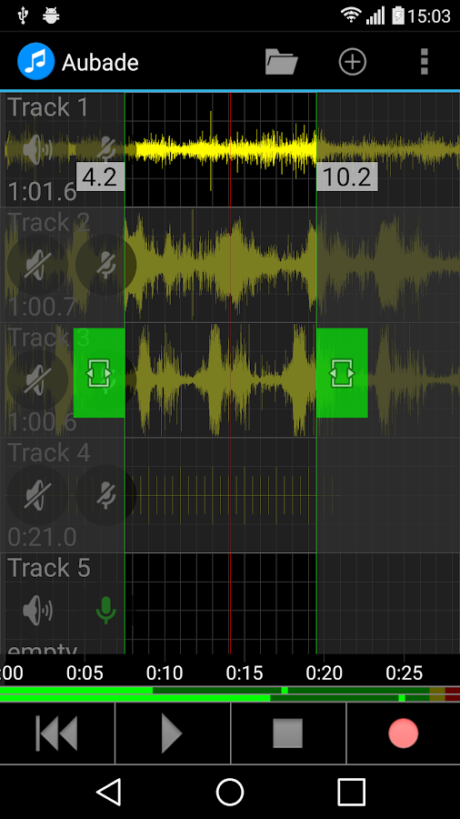Aubade Audio Studio Screenshot 3