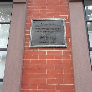 82 Jane Street Site of the William Bayard house Where Alexander Hamilton, first Secretary of The treasury, died after his duel with Aaron Burr July 12, 1804
