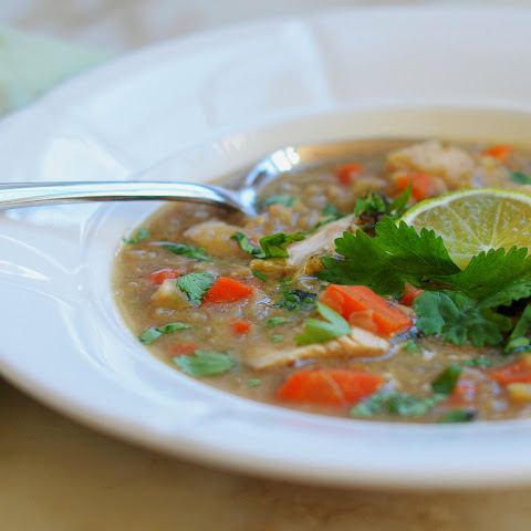 Indian Spiced Red Lentil & Chicken Soup