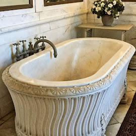 Marble Bath Tub by Debra Branigan - Artistic Objects Antiques ( artistic objects, marble, bathtub, antiques, photography )