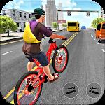 BMX Bicycle Rider Track Icon