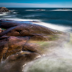Calming the sea by Juha Kauppila - Landscapes Waterscapes ( blue, sea, rocks,  )