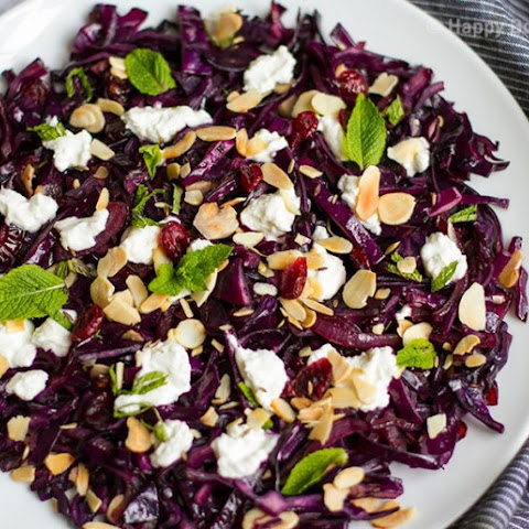 Quick Red Cabbage With Cranberries, Almonds & Goat's Cheese