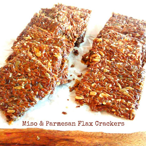 Miso & Parmesan Flax Crackers