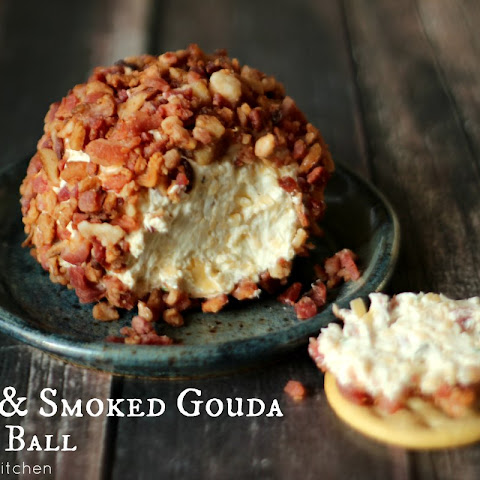Bacon & Smoked Gouda Cheese Ball (Nuts Optional)
