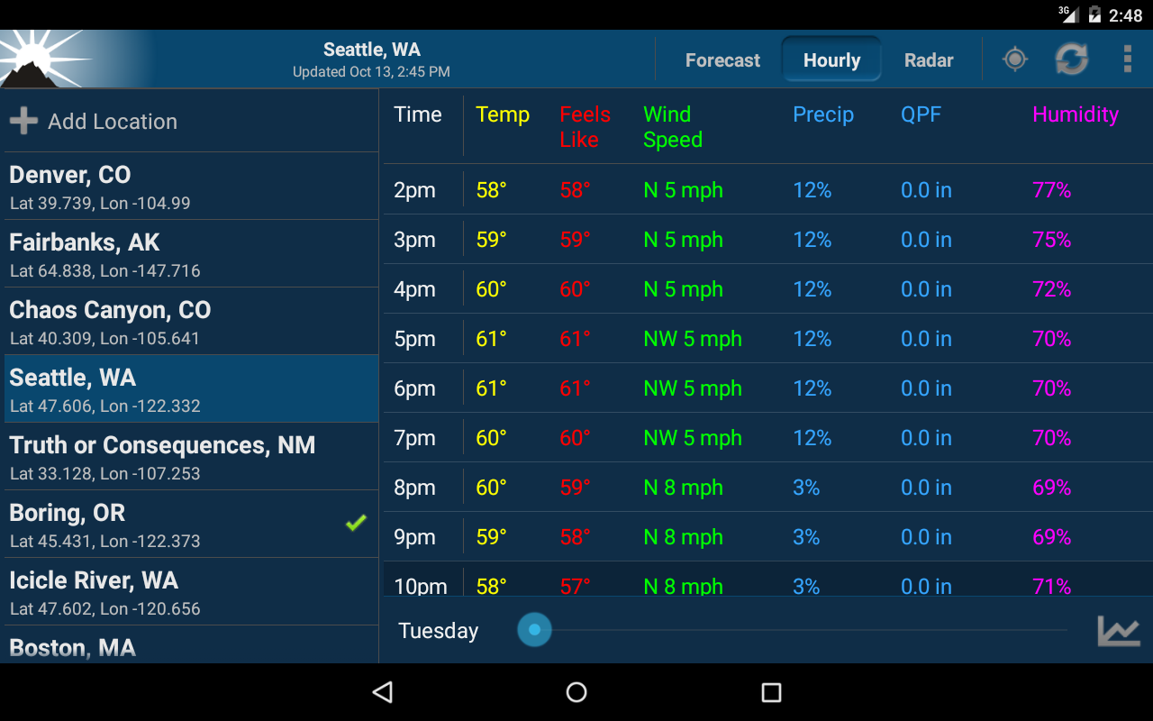 NOAA Weather Unofficial (Pro) Screenshot 12