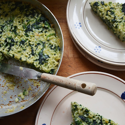 Rachel Roddy's Roman rice and spinach cake
