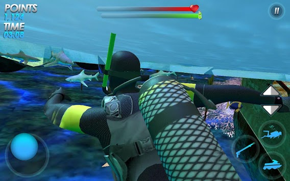 Underwater Scuba Diver Survival: Hungry Shark Game apk screenshot