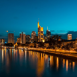 Frankfurt am Main by Alexandru VA - City,  Street & Park  Skylines ( skylines, frankfurt am main, night )