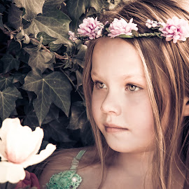 Bohemian Girl by Carmen Bouwer - Babies & Children Child Portraits ( fantasy, child, girl, nature, flowers, fairytale, portrait, bohemian )