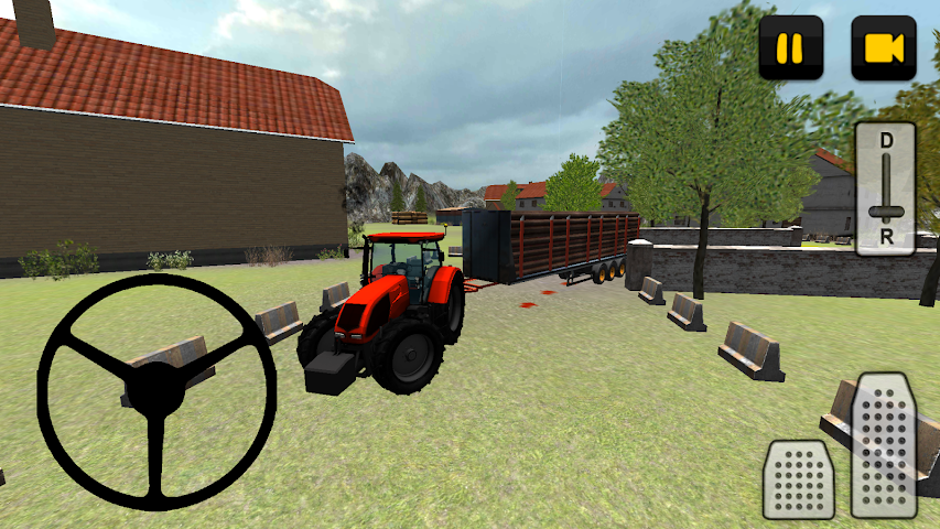 android Tractor 3D: Log Transport Screenshot 0