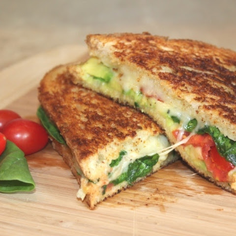 The Best Grilled Cheese Ever {Gruyere, Spinach, Avocado & Tomato}