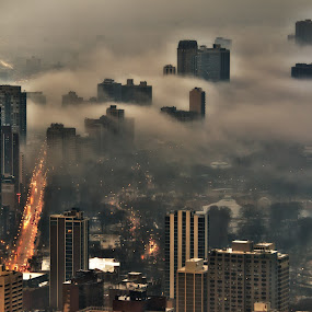 Chicago Weather by John Harrison - City,  Street & Park  Skylines