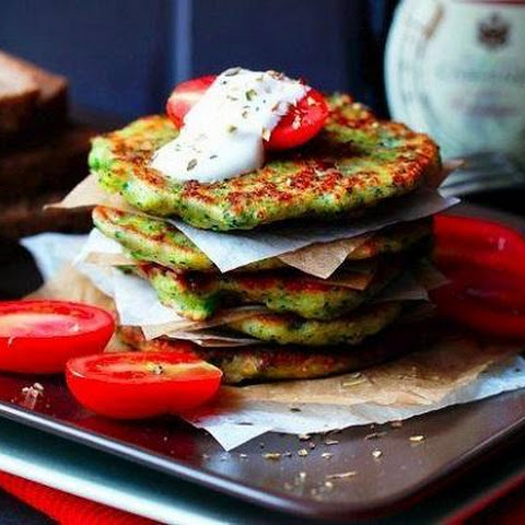 Fritters of broccoli and Parmesan cheese