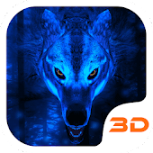 Free Ice Wolf 3D Theme APK for Windows 8