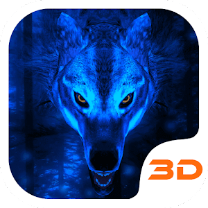 APK App Ice Wolf 3D Theme for BB, BlackBerry