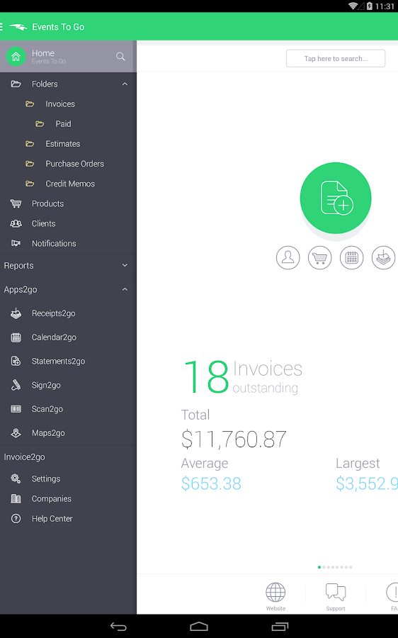 Invoice & Estimate Invoice2go Screenshot 8