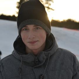 Skier by Vladimir Bogovac - People Portraits of Men ( skiing, vacation, winter, boy, portrait )