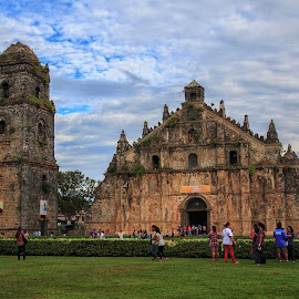 Paoay Church by Ikko Calzado - Buildings & Architecture Places of Worship ( outdoors, tourist spot, church, place of worship, day, people )