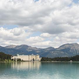 Lake Louise by Griffin Li - Landscapes Waterscapes ( mountain, mountains, waterscape, water, landscape )