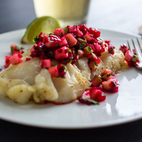 Seared Fish With Beet Salsa