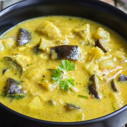 Spicy Eggplant Curry [Vegan]
