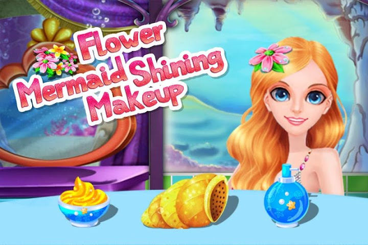 android Flower Mermaid Shining Makeup Screenshot 6