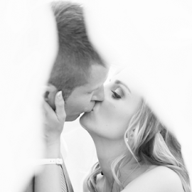 Kissing  by Lodewyk W Goosen-Photography - Wedding Bride & Groom ( wedding photographers, weddings, wedding, bride and groom )