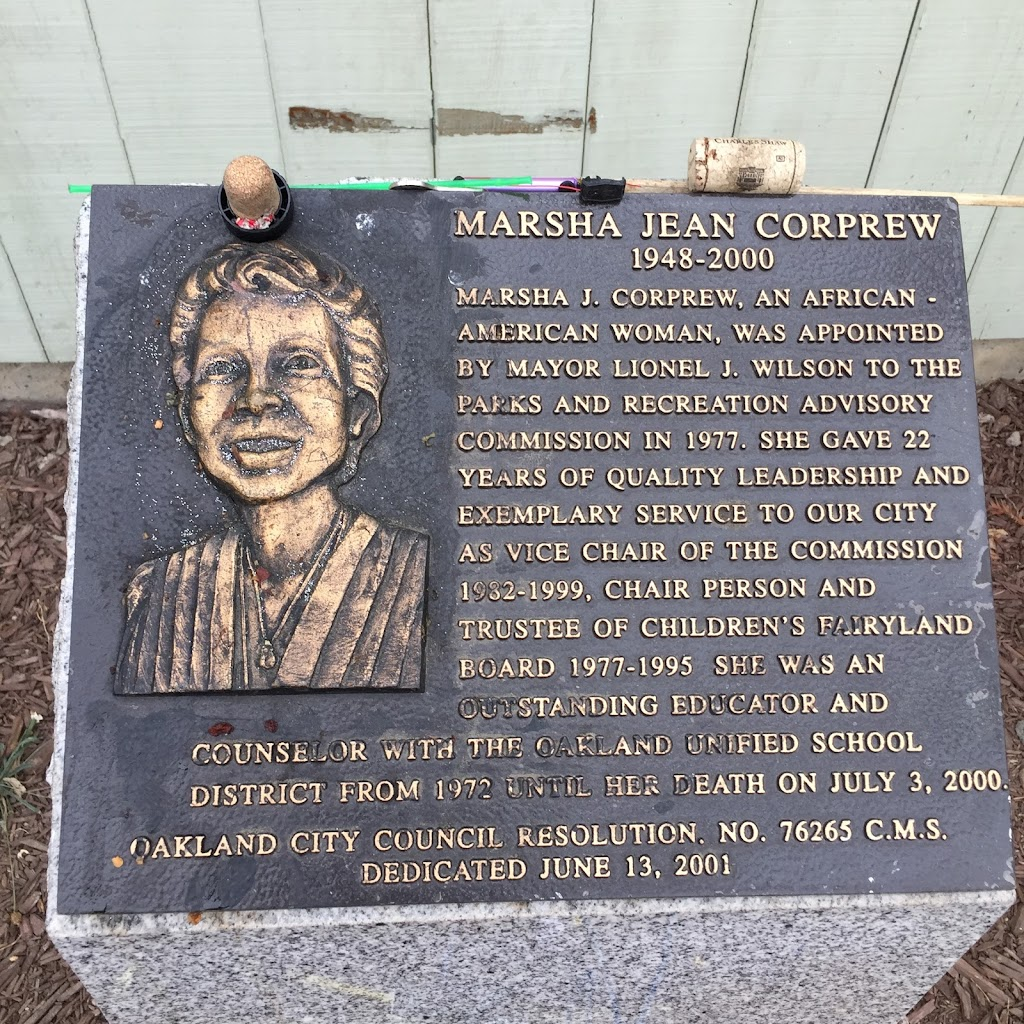 MARSHA JEAN CORPREW  1948-2000  MARSHA J. CORPREW, AN AFRICAN -  AMERICAN WOMAN, WAS APPOINTED  BY MAYOR LIONEL J. WILSON TO THE  PARKS AND RECREATION ADVISORY  COMMISSION IN 1977. SHE GAVE 22  YEARS ...