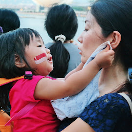 Mother and Child by Koh Chip Whye - People Street & Candids ( KidsOfSummer,  )