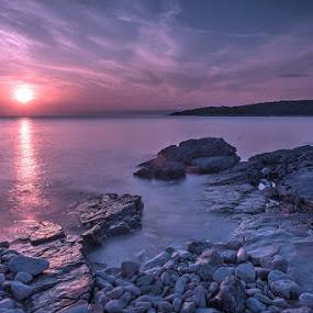 Loviste by Miho Kulušić - Landscapes Beaches ( beautiful, seascape, rocks, waterscape, sunset, stones, sun, sea,  )