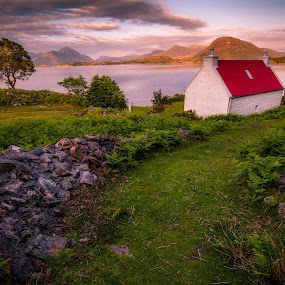 Keepers Cottage, Torridon by Iain Cathro - Landscapes Mountains & Hills