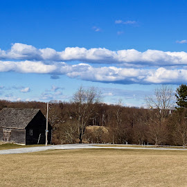 The old brown barn. by Peter DiMarco - Buildings & Architecture Other Exteriors ( farm, old house, building, barn, buildings )
