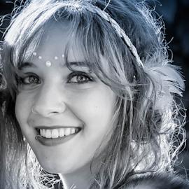 Smiling Angela  by Dragan Rakocevic - People Portraits of Women