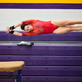 Going Vertical by Bob Grandpre - Sports & Fitness Other Sports ( hula luau, gymnastics meet, montrose, vault, gymnast )
