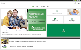 Screenshot of L'Alliance mobile services