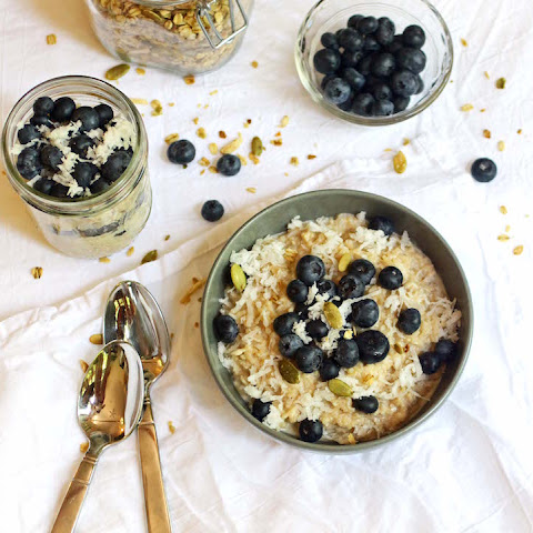 Breakfast Rice Pudding with Coconut & Blueberry