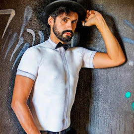 Body Painting by Renato Cerqueira - People Portraits of Men ( white, fashion photography, men, people, portrait )