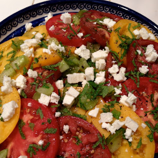 Tomatoes with Feta and Mint