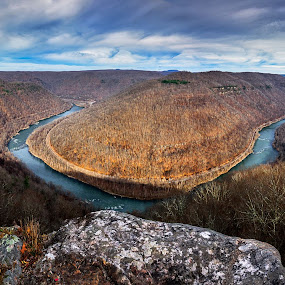 Grandview - New River Gorge by Robert Golub - Landscapes Mountains & Hills