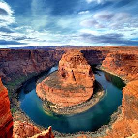 Horseshoe Bend, Arizona by Brent Clark - Landscapes Deserts
