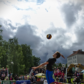 Beach volley by Simo Järvinen - Sports & Fitness Other Sports ( beach volley, outdoor, action, sports, summer, man )
